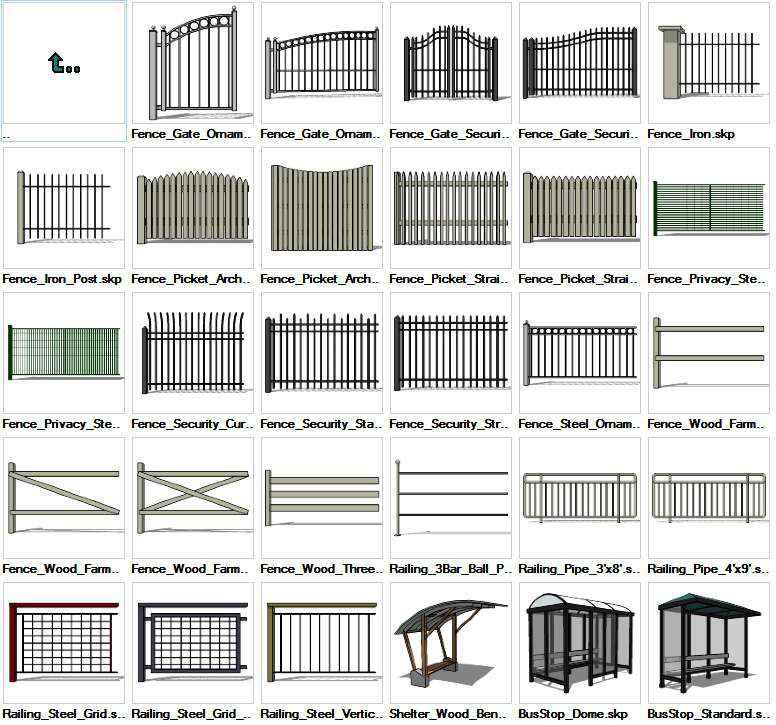 Sketchup Built Constructions 3D models download – Free