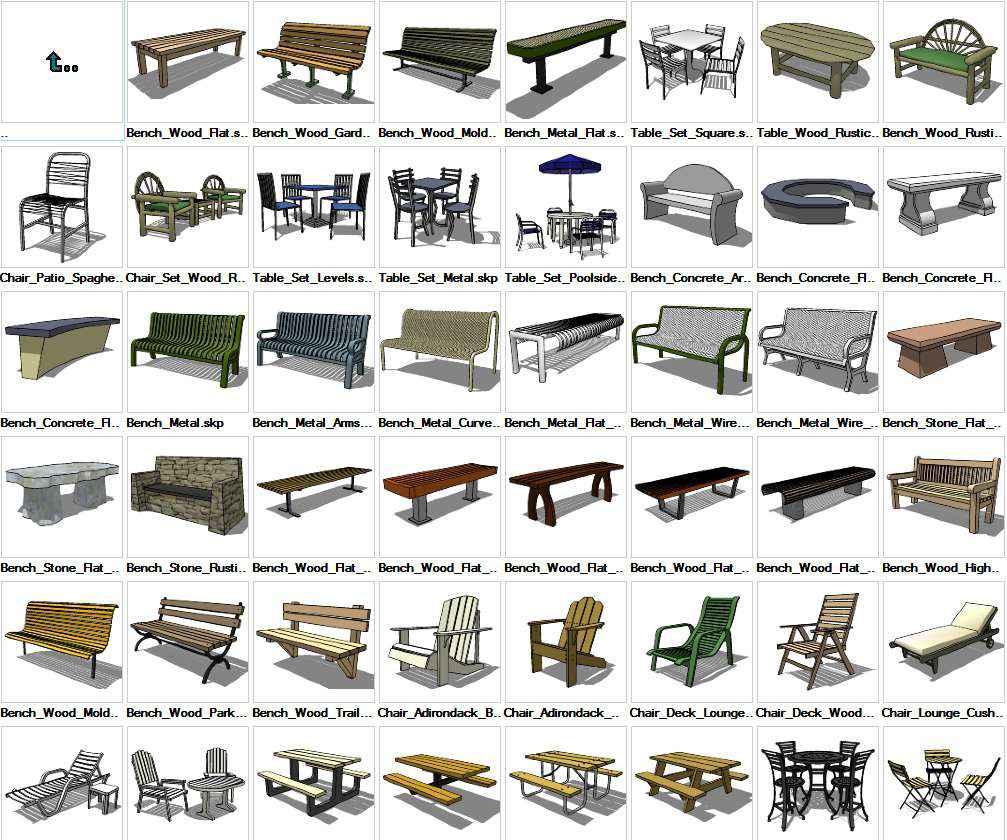 3d cad furniture models free download