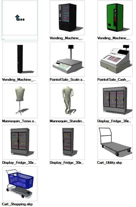 Sketchup Retail 3D models download – Free Autocad Blocks & Drawings