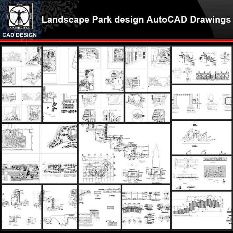 Landscape Park Design Details Autocad Drawings Collections All Kinds Of Landscape Details Cad Drawings Free Autocad Blocks Drawings Download Center